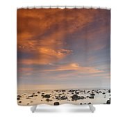 Small Stones Islands Shower Curtain
