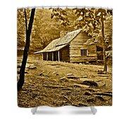 Smoky Mountain Cabin Shower Curtain