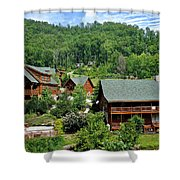 Smoky Mountain Cabins Shower Curtain