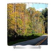 Smoky Mountain Road Trip Shower Curtain