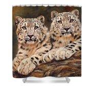 Snow Leopards Shower Curtain