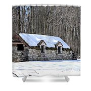 Snow On The Roof Shower Curtain