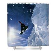 Snowboarding In Lake Tahoe Shower Curtain
