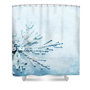 Snowflake In Snow Shower Curtain