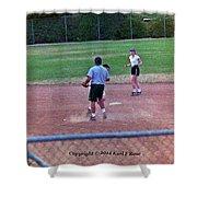 Softball Game Shower Curtain