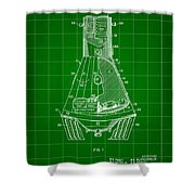 Space Capsule Patent 1959 - Green Shower Curtain