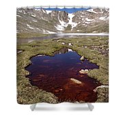 Mountain Lakes - Spring Thaw Shower Curtain