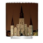 St Louis Cathedral At Night Shower Curtain