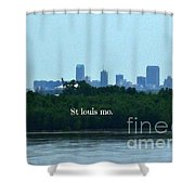 St Louis From Chain Of Rocks Bridge Shower Curtain