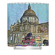 St Paul's Cathedral London Art Shower Curtain