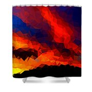 Stained Glass Sunset Shower Curtain