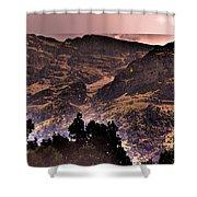 Starry Night Landscape Shower Curtain