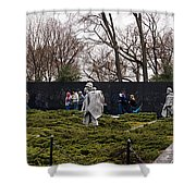 Statues Of Soldiers At A War Memorial Shower Curtain