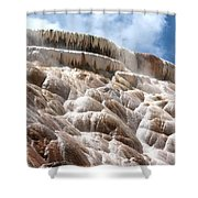 Steamy Mammoth Hot Springs Shower Curtain