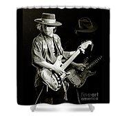 Stevie Ray Vaughan 1984 Shower Curtain