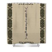 Stewart Written In Ogham Shower Curtain
