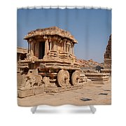 Stone Chariot At Vittala Temple  Shower Curtain