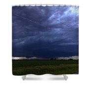 Stong Nebraska Supercells Shower Curtain