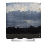 Thunder Storm On The Horizon Shower Curtain