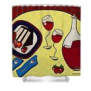 Strawberry Wine Shower Curtain