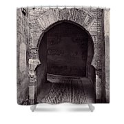 Street In Historic Albaycin In Granada Shower Curtain