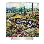 Stroubles Creek Shower Curtain
