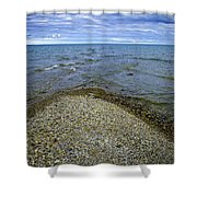 Sturgeon Point Lighthouse Shower Curtain