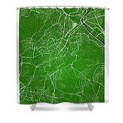 Stuttgart Street Map - Stuttgart Germany Road Map Art On Colored Shower Curtain