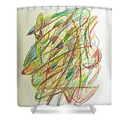Subconscious Thought No. 1 Shower Curtain