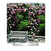 Pink Rose Garden Shower Curtain