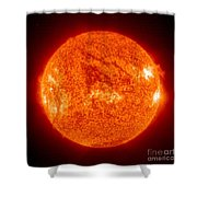 Sun Shower Curtain by Science Source