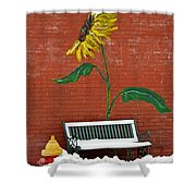 Sunflower And Snow Shower Curtain