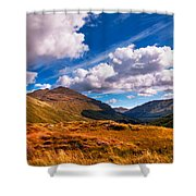 Sunny Day At Rest And Be Thankful. Scotland Shower Curtain