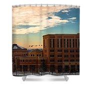Sunrise Flyby Shower Curtain