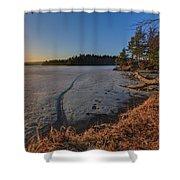 Sunrise On Millsite Lake Shower Curtain