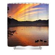 Sunrise Over An Alpine Lake Shower Curtain