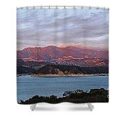 Sunset At Cachuma Lake Shower Curtain