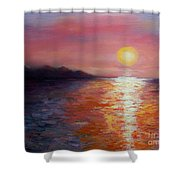 Sunset In Ixtapa Shower Curtain