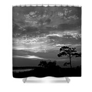 Sunset Over Colington Island On The Outer Banks Of North Carolina Shower Curtain