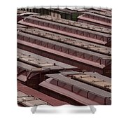 Switch Yard For Box Cars Shower Curtain