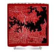 Sydney Street Map - Sydney Australia Road Map Art On Color Shower Curtain
