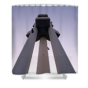 Urban Symmetry Shower Curtain
