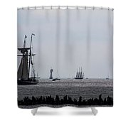 Tall Ships Shower Curtain