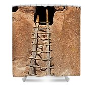 Talus House Front Door Bandelier National Monument Shower Curtain