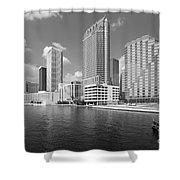 Tampa Skyline From Hillsborough River Shower Curtain