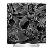 Tapestry Of Gods - Tlaloc Shower Curtain