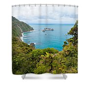 Tasman Sea At West Coast Of South Island Of New Zealand Shower Curtain