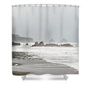 Tasman Sea At West Coast Of South Island Of Nz Shower Curtain