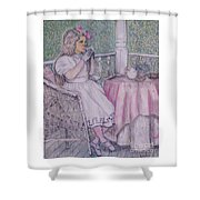 Tea Time For Alexis Shower Curtain