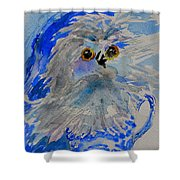 Teacup Owl Shower Curtain